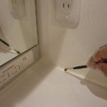 洗面に防カビ剤セナシールド
